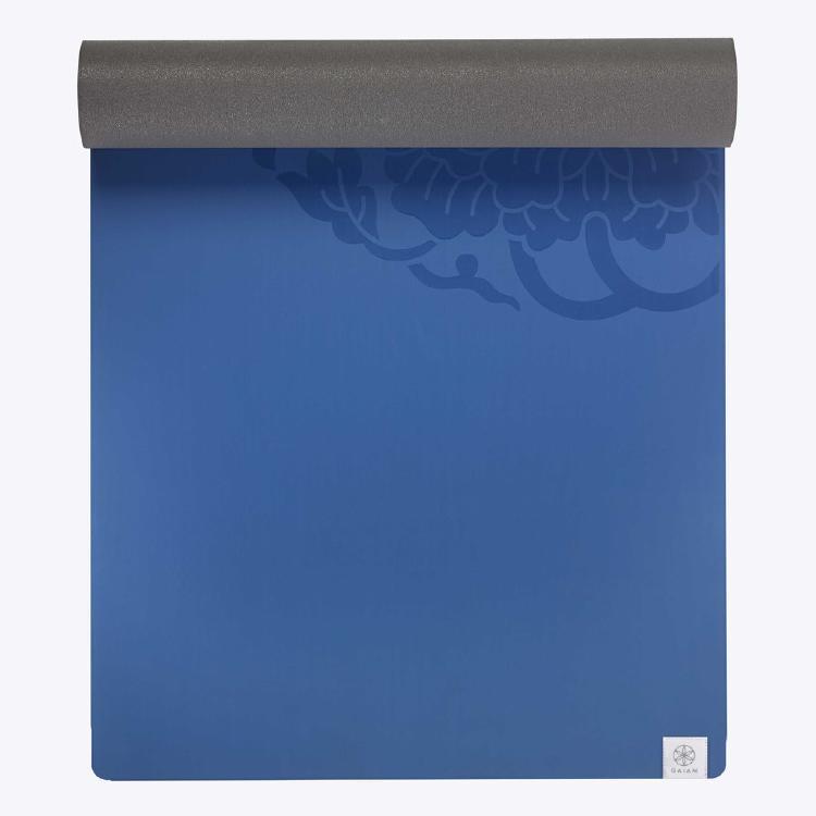 blue performance dry-grip yoga mat