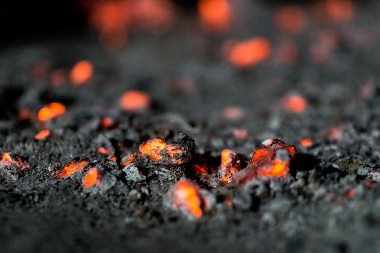 a picture of ashes on fire