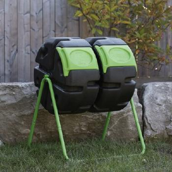 Hotfrog+Dual+Body+37+Gal.+Tumbler+Composter