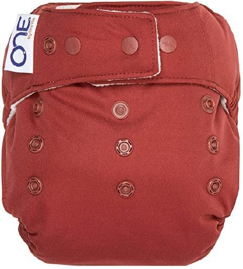 A red Grovia O.N.E. Cloth Diaper