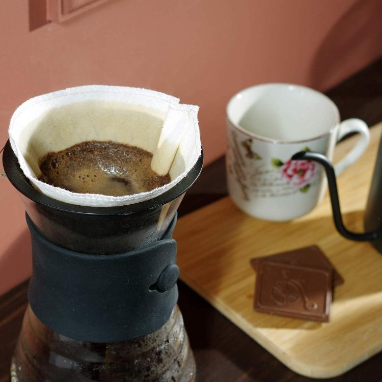 Textile coffee filter.