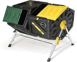 Duel Chamber Tumbler with green and yellow slide doors
