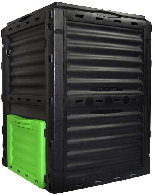 The square EJWOX compost bin also comes in the color green.