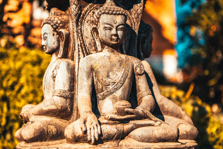 image of a statue of Buddha Kathmandu