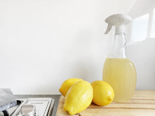 lemon and vinegar natural cleaner
