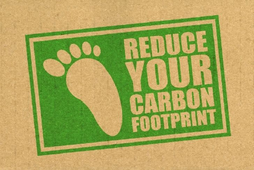 flyer reading reduce your carbon footprint