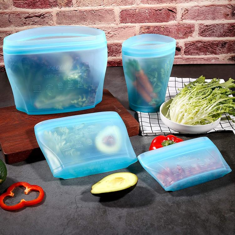 Silicone containers.