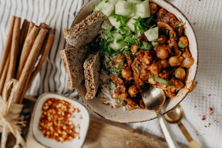Rice and Chickpea Mediterranean Salad