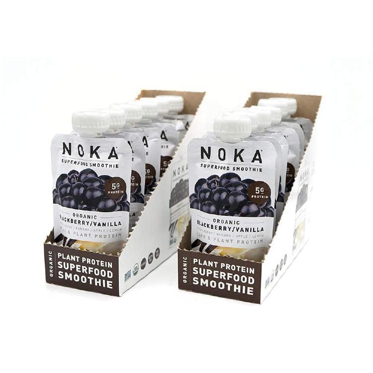 The 12-pack blackberry vegan smoothie from NOKA