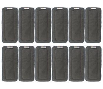 12 black bamboo inserts for cloth diapers