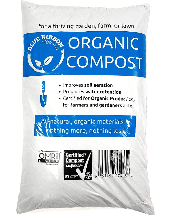Organic compost in bag.