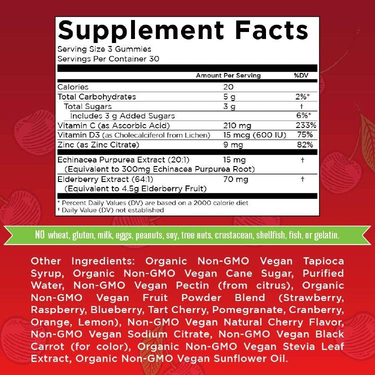 supplement facts mary