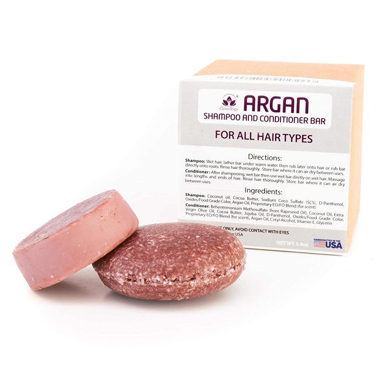 The Argan Vegan Shampoo and Conditioner Bars