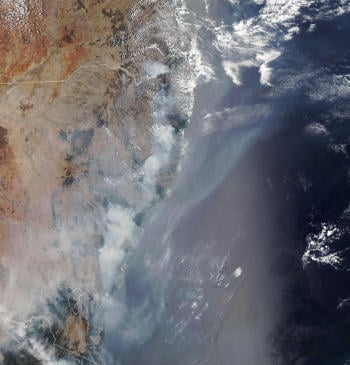 Australia fires from space: pictures to understand their impact