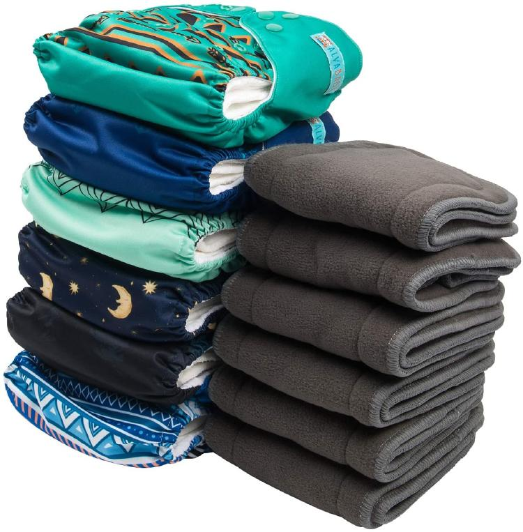 Piled up Alvababy Cloth Diapers