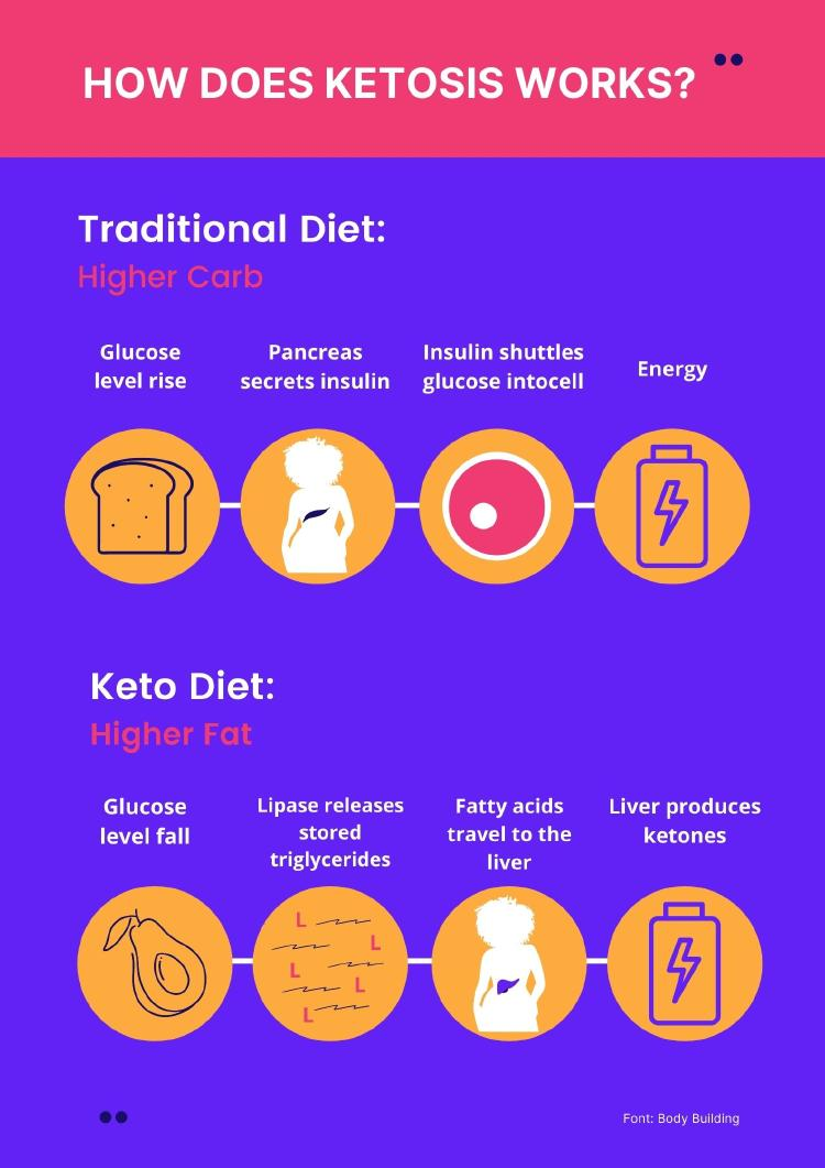 Infographics about HOW DOES KETOSYS WORKS