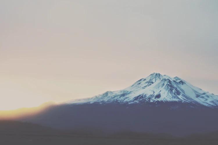 Mount Shasta, California during sunset