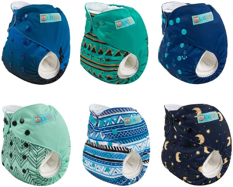 How Alvababy Cloth Diapers look folded