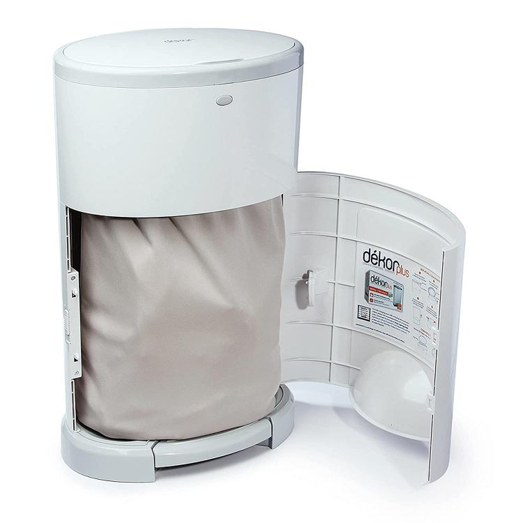 The Dekor Diaper Liner with the Diaper Pail