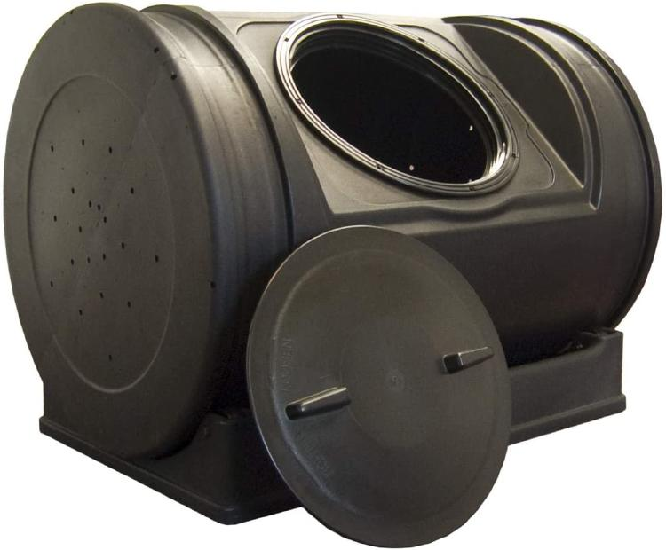 The EZ Composter Jr is a cilindrycal composter.